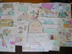 第4学年の子どもたちが描いた絵