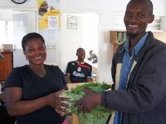 保健センターへ野菜を提供します