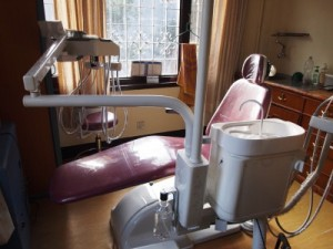 新しく設置された歯科診療台
