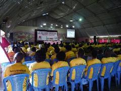 会場には来賓も含め、およそ350人が集まり、盛大な会となりました