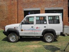 寄贈された救急車
