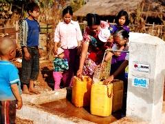 フェーズ1で住民が中心となって建設した水供給施設