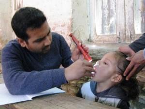 小児科の診察の様子