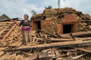 ダディン郡Aginchok行政村の被災状況