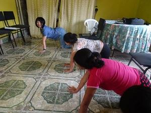 妊婦の家での体操