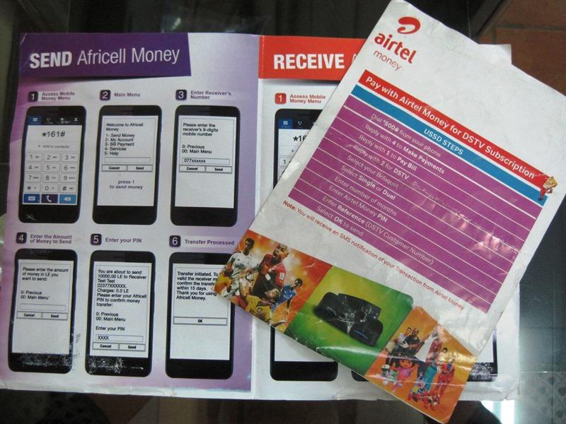 携帯電話マネーのパンフレット(写真1)