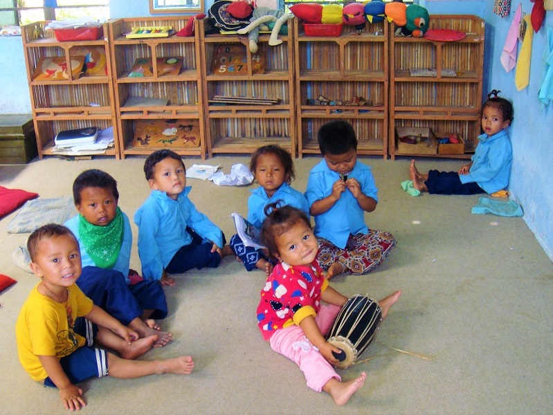 震災の被害を免れた幼稚園スペース。プロジェクトで目指すのはこの姿です。
