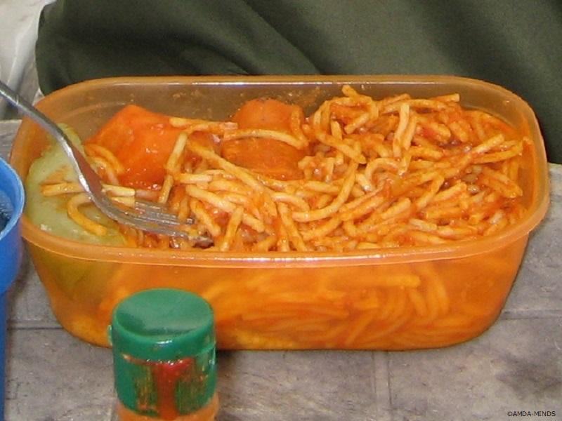 写真2)日本でもおなじみのナポリタンスパゲッティ